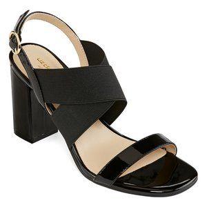 Liz Claiborne Tempo Elastic Open Toe Block Heel 9M